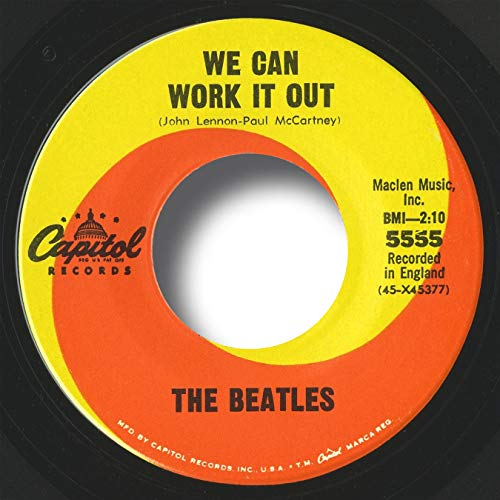 The Beatles Vinyl Records: We Can Work It Out, 1965 Rare USA Mono ORIGINAL NEW Old Store Stock 45, Near MINT! Capitol 5555 (SIDE 2: Day Tripper), Includes Letter/Certificate of Authenticity (LOA/COA) by Beatles4me