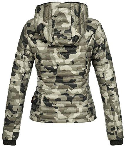 para capucha con B348 Navahoo Army acolchada Grey Chaqueta mujer zqxAw76v