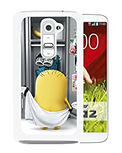 Popular Custom Designed Cover Case With minion White For LG G2 Phone Case