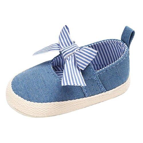 Igemy 1 Paar Baby Säugling Kinder Mädchen Weiche Sole Krippe Kleinkind Neugeborene Schuhe Blau