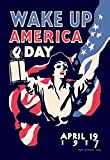 Buyenlarge Wake Up America Day April 19, 1917 by James Montgomery Flagg Wall Decal, 48'' H x 32'' W