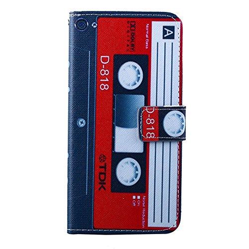 sibaina Téléphone portable Apple iphone 55S se 66S Plus, mode luxe Dessin Étui à rabat en cuir PU pour téléphone portable iPhone 55S se Porte-cartes Bâillon Coque pour téléphone portable Apple iPho