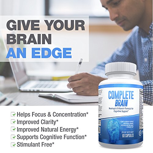 CompleteBrain: Powerful Nootropic and Brain Supplement - Improves Memory, Mood, Focus, Clarity and Creativity 30 Servings by eXplicit Supplements (Image #5)
