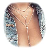 Description: -Stylish and comfortable to wear. - Unique multi-layer design with feather pendent. - Exquisite necklace are bound to catch others' eyes when you wear it in the street. - Special lobster clasp, not easy to loose, very firm. Jewel...