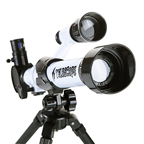Kids Telescope, DIY Kids Telescope for Beginners, Early Development Science Toys, Three Different Magnification Eyepieces, Finder, Sky Observe, Tripod, Easy Operation, Detachable by Kidcia (Image #2)