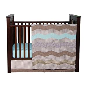 Trend Lab Cocoa Mint 3Piece Crib Bedding Set