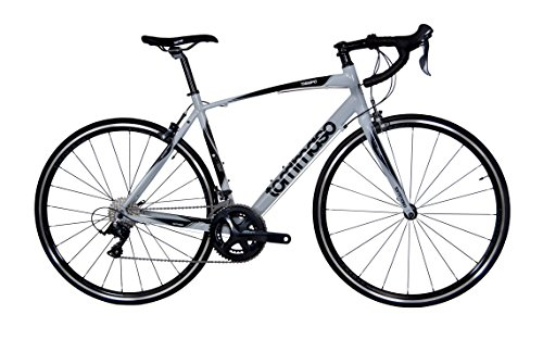 Tommaso Tiempo Endurance Aluminum Road Bike, Carbon Fork, Shimano Sora, 18 Speeds, Aero Wheels