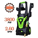 Eletron 3800 PSI 2.60 GPM Electric Pressure Washer, Electric Power Washer with 4 Quick-Connect Spray Tips, Cold Water Pressure Cleaner