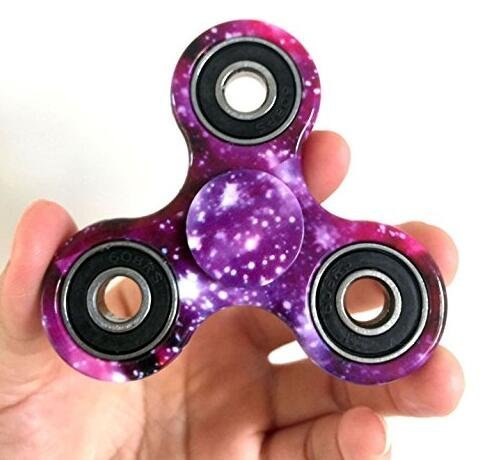 Price comparison product image Hand Fidget Spinner Toy Time Killer Perfect to relieve ADHD Anxiety Reduce Stress Helps Focus Galaxy
