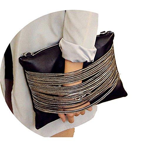 Elegant Daily Casual Clutch Bag Purse For Women 2018, Womens Leather Party Wristlet Handbag Black Clutch Purses for Women by imentha
