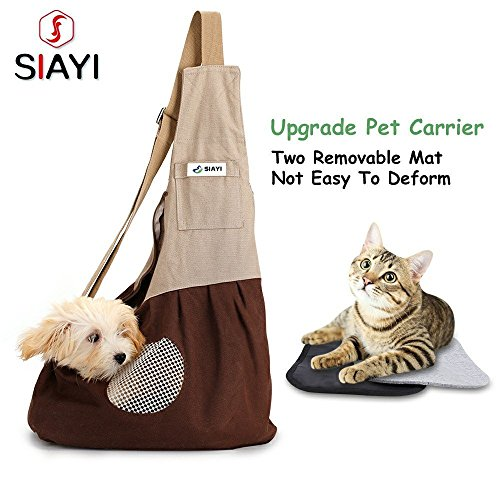 SIAYI Hands Free Pet Dog Sling Carrier Bag Not Easy to Deform Machine Washable with Two Removable...