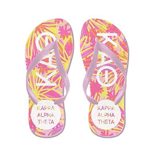 Cafepress Kappa Alpha Theta Pink - Infradito, Divertenti Sandali Infradito, Sandali Da Spiaggia Rosa