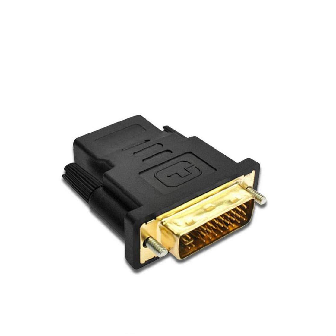 hEziJpTnA Haut de Gamme DVI vers HDMI connecteur DVI vers HDMI Bidirectionnelle m/âle /à Femelle Adaptateur VGA Signal de Sortie /Équipement /électronique Pi/èces pour Bureau
