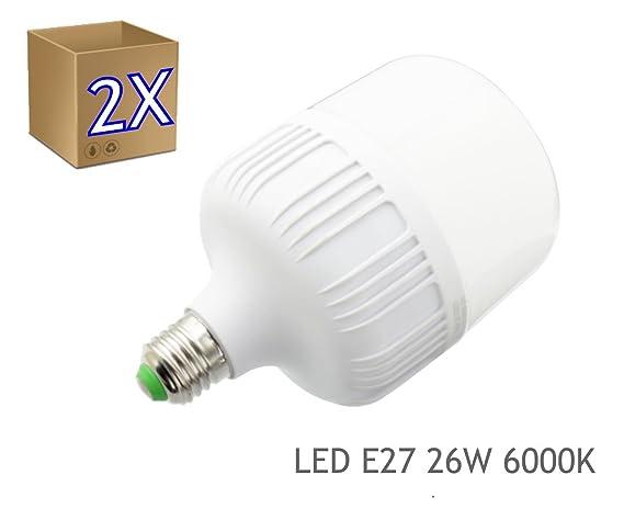2x Bombilla LED 26W rosca E27 luz 4000K blanca natural - Jandei
