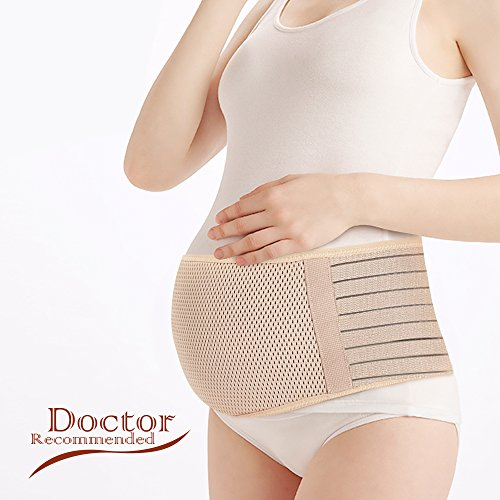 Vikes Maternity Support Belt- Breathable Pregnancy Belly Band Abdominal Binder-...