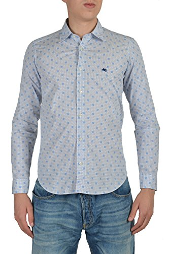 etro-mens-blue-long-sleeve-casual-shirt-size-us-s-it-48