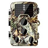 Trail Camera - [2018 Version] Trail Camera 16MP 1080P Wildlife Game Camera 120° PIR Angle, 0.2s Trigeer Time, 65ft Infrared Camera Motion Activated with Night Vision, 2.4'' LCD Display, IP56 Waterproof