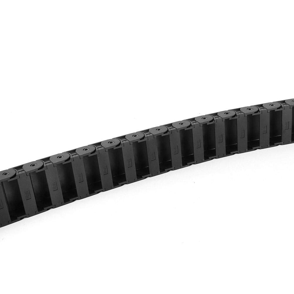 Cable Drag Chain,1 Meter 18x50mm R38 Black Nylon Cable Drag Chain Wire Carrier Bridge Type Opening for 3D Printer CNC Machine