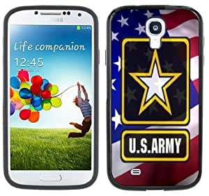 United States Army Samsung Galaxy S4 Black Bumper Hard Plastic Case by Maris's Diary