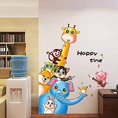 Llzz Wall Sticker Happy Hour Cartoon Animal Wall Sticker Party
