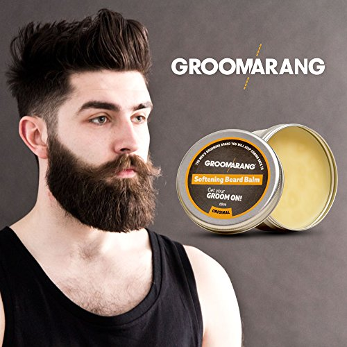 all natural beard softening balm with natural oils for moustache grooming growth and leave in. Black Bedroom Furniture Sets. Home Design Ideas