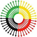M-Aimee 40 Pieces Arrow Spinners Board Game Spinner Arrow Toys for Party School Home Using, 4 Colors