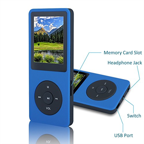 Amazon.com: FecPecu Lossless Sound 8GB MP3 Player Hi-Fi 35 Hours ...