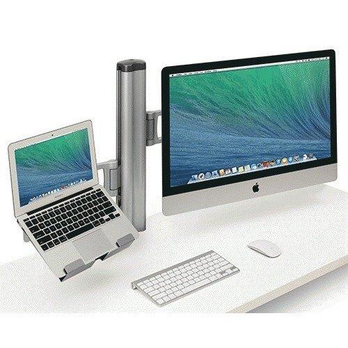 Bretford Mobile Combo Desk mount for LCD display / notebook / tablet gray, Aluminum (TY174BG1)