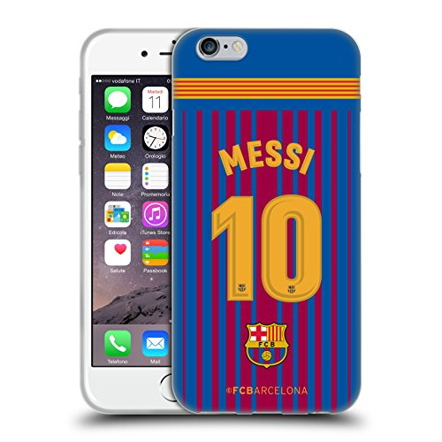 Official FC Barcelona Messi 2017/18 Players Home Kit Group 1 Soft Gel Case for iPhone 6 / iPhone 6s