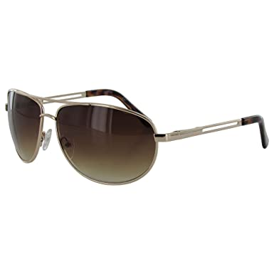 e928ddddc21c Image Unavailable. Image not available for. Color: Kenneth Cole Reaction  KC1069 Gold Brown Aviator Sunglasses