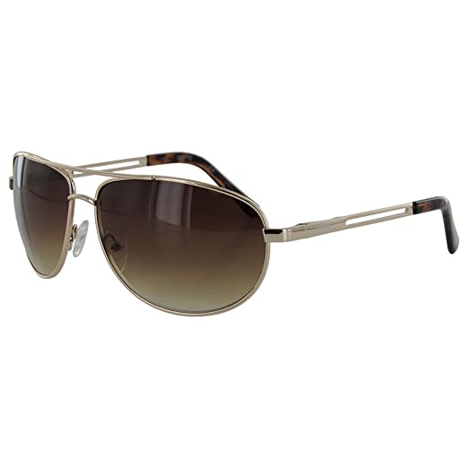 Kenneth Cole Reaction KC1069 Gold Brown Aviator Sunglasses