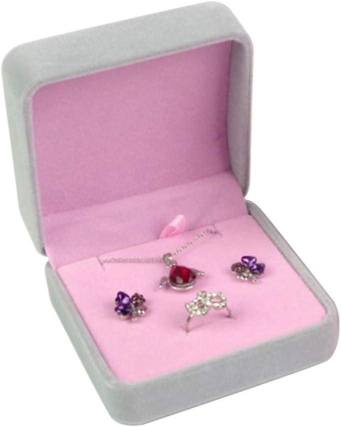 Travel Jewelry Organizer Storage Case Velvet Square Shape Ring Ear Stud Necklace Jewelry Holder Storage Box Organizer Amazon Ca Beauty