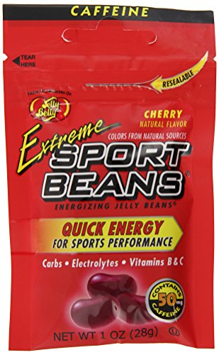 Sport Beans, Caffeinated Jelly Beans, Cherry Flavor, 24 Pack, 1-oz Each (Kosher Gourmet Jelly Beans)