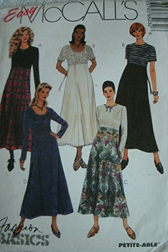 Misses High Waisted Dress Size 8-10-12 Easy Mccalls Fashion Basics Pattern 8523 Petite-able - Mccalls Fashion