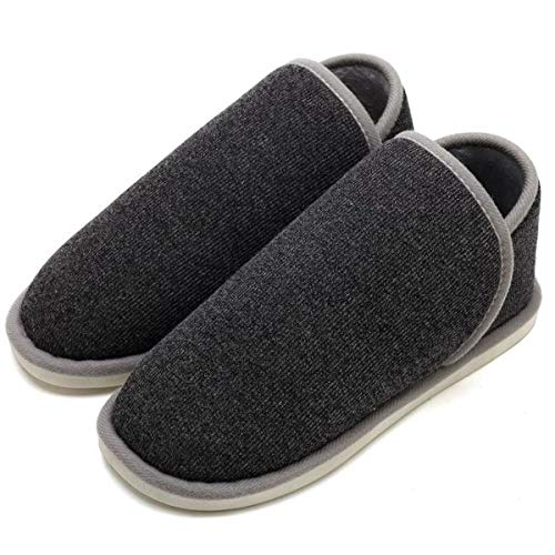Unisex Foldable Moccasin Indoor Slippers Cozy SOSUSHOE Slippers Winter House Black Outdoor Boots Shoes for Fluffy dwTXxqH