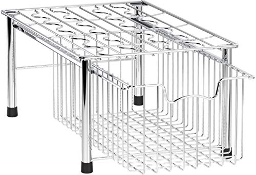 (Simple Houseware SHW Stackable Basket Drawer, Chrome)