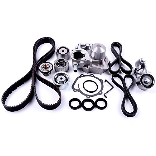 (SCITOO Engine Timing Part Belt Set Timing Belt Kits, fit Subaru Outback 2.5L SOHC H4 Non-Turbo 2006-2009 Replacement Timing Tools with Water Pump)