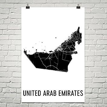 Uae Karte Vereinigte Arabische Emirate Kunst Karte Der