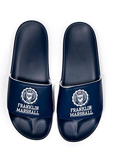 De Timbre Marine Franklin Diapositives amp; Marshall Bleu Blue Logo BwqqtIr