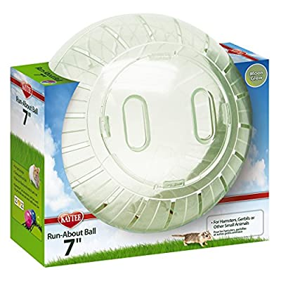 """Kaytee Run-About 7"""" Hamster Exercise Ball, Moon Glow from Super Pet"""