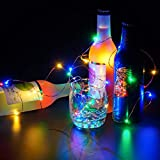 Ouniman 60 Solar String Light, Fairy String Lights, Waterproof Copper Wire Decorative String Lights for Valentine's Day, Bedroom, Home & Yard - Multicolor
