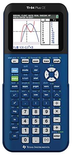 Texas TI- Plus CE Denim Graphing Calculator