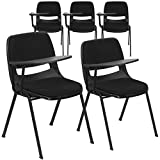 Flash Furniture 5 Pk. Black Padded Ergonomic Shell Chair with Right Handed Flip-Up Tablet Arm Review