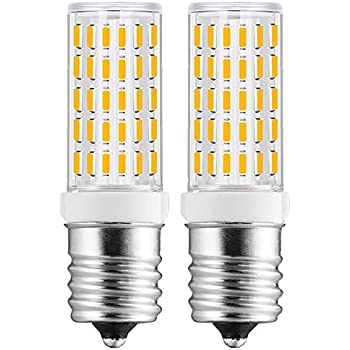 E17 LED Bulbs - Microwave Oven Appliance Light 50W Halogen Bulb Equivalent Warm White Pack of 2 (Warm White 3000k)
