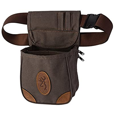 Browning 121388692 Lona, Canvas/Leather Shell Pouch, Flint, 13