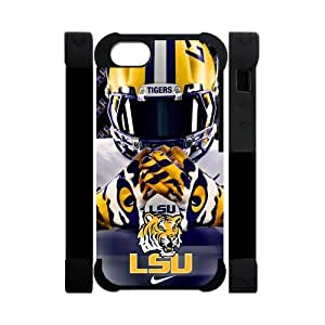 Purple Protective NCAA Lsu Tigers Apple Iphone 5S/5 Case Cover Dual Protective Polymer Cases University Football Nike just do it logo Helmet