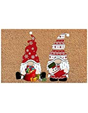 Christmas Gnome Dwarf Doormat, Merry Christmas Welcome Sign Carpet, Indoor Outdoor Autumn Fall Greeing Front Porch Rug, Santa Claus Door Mat Decorations Ornaments for Home, Entrance, Floor