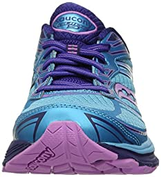 Saucony Women\'s Guide 9 Running Shoe, Blue/Purple/Pink, 6.5 M US