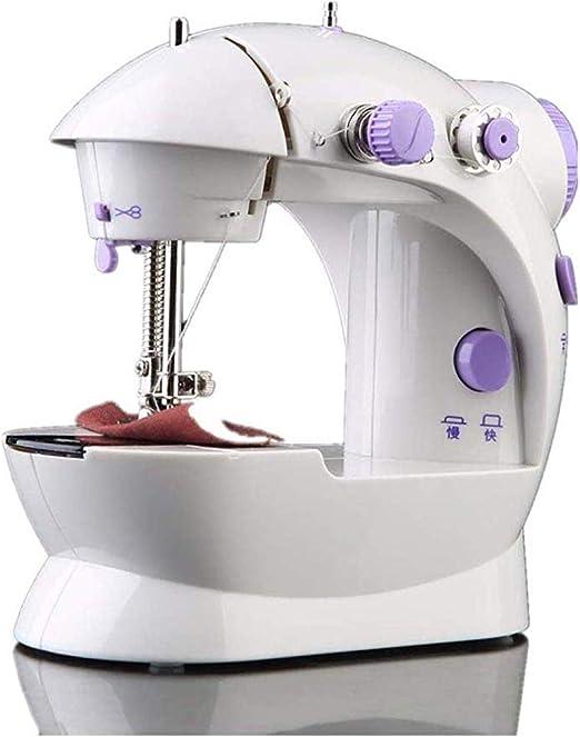 Máquina de coser portátil, máquina de coser overlock eléctrico ...