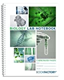 BookFactory Carbonless Biology Lab Notebook - 100 Sets of Pages (8.5'' X 11'') (Duplicator) - Scientific Grid Pages, Durable Translucent Cover, Wire-O Binding (LAB-100-7GW-D (Biology))
